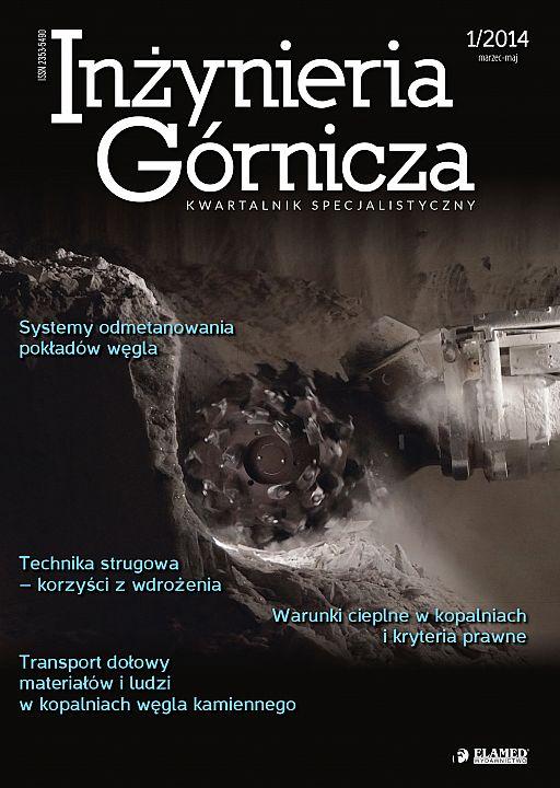 Inżynieria Górnicza wydanie nr 1/2014